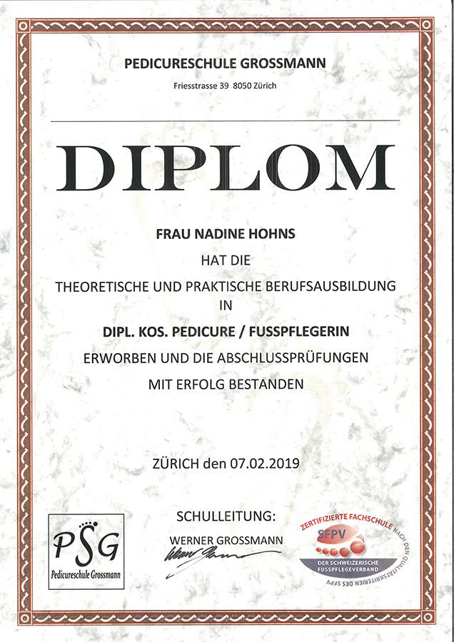 Diplom Fusspflege