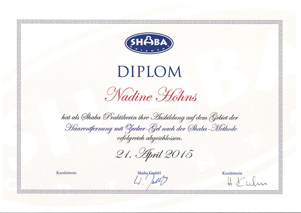 Diplom SHABA